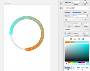 Creating a heat map control experience. Circles with gradients.