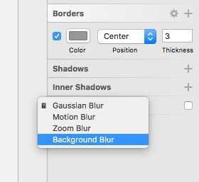 background blur control for sketch 3 app